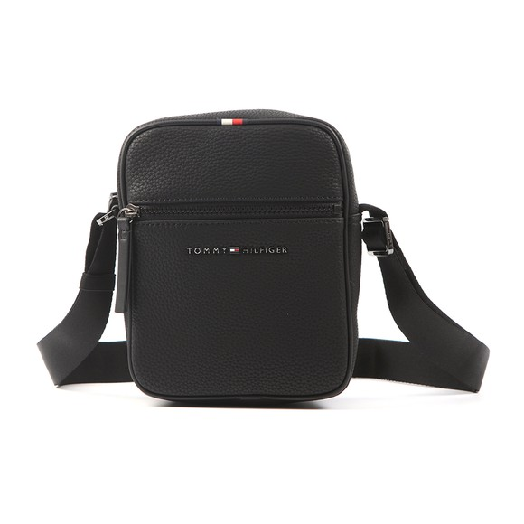 Tommy Hilfiger Mens Black Mini Reporter Bag main image