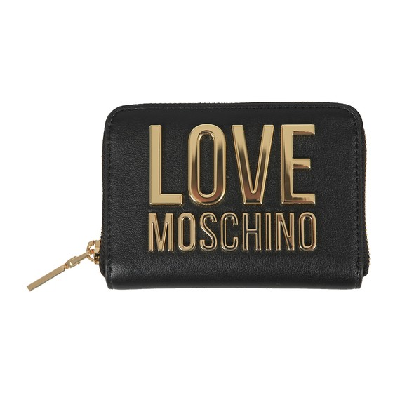 Love Moschino Womens Black Large Logo Purse