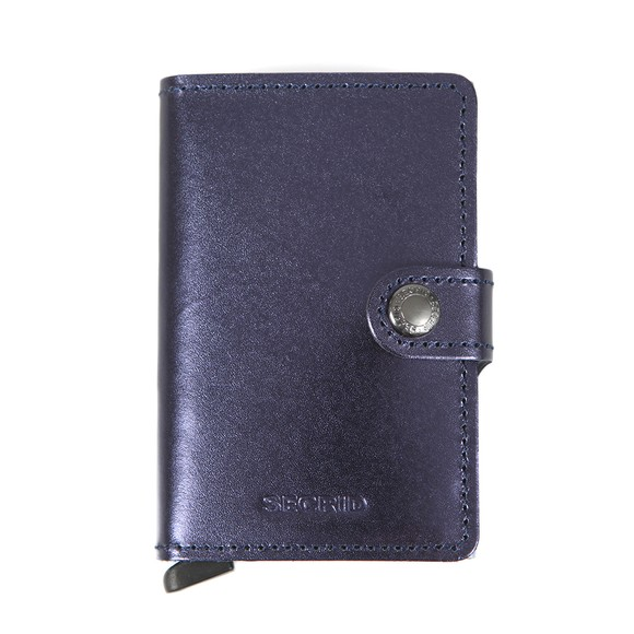 Secrid Mens Blue Mini Metallic Wallet