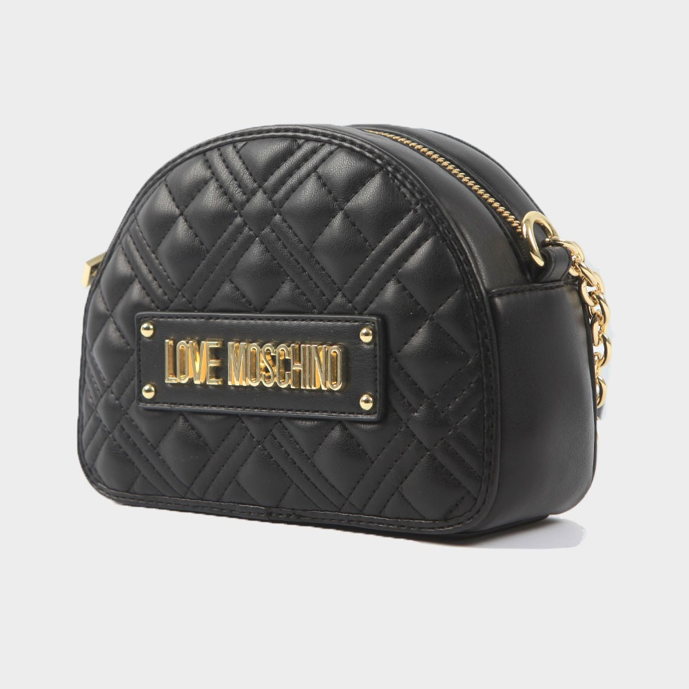 Cross Quilted Small Round Bag main image