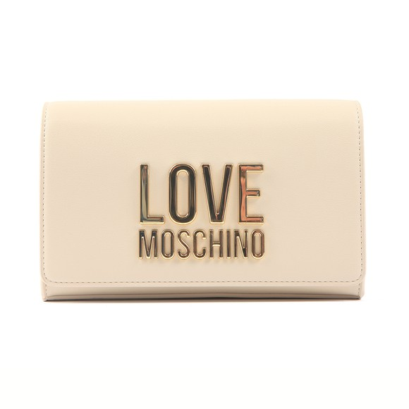 Love Moschino Womens Off-White Large Logo Bag