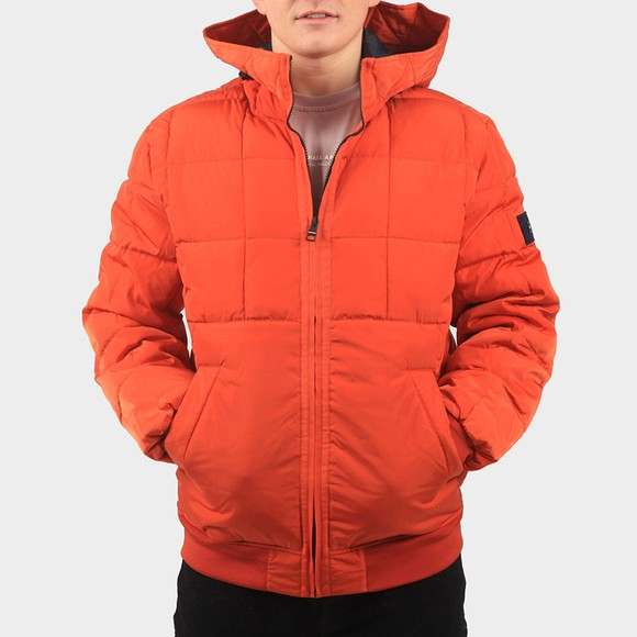 Tommy Hilfiger Mens Orange Rope Dye Hooded Bomber main image