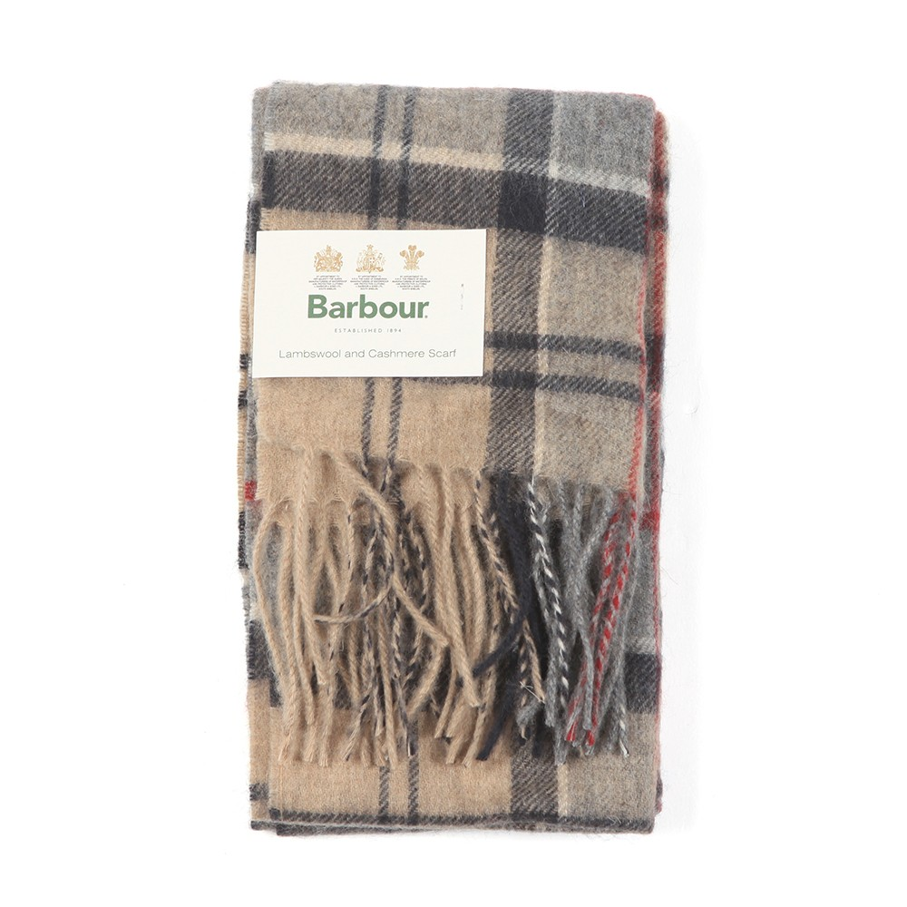 Tartan Lambswool and Cashmere Scarf