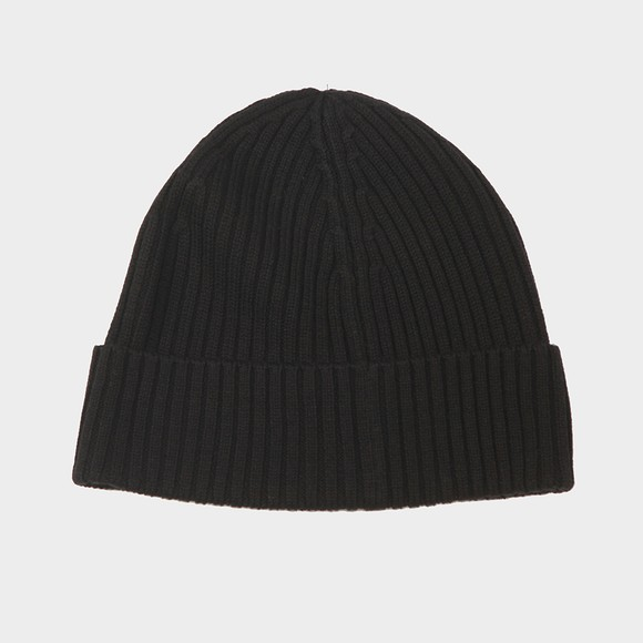 Lacoste Mens Black Ribbed Beanie main image