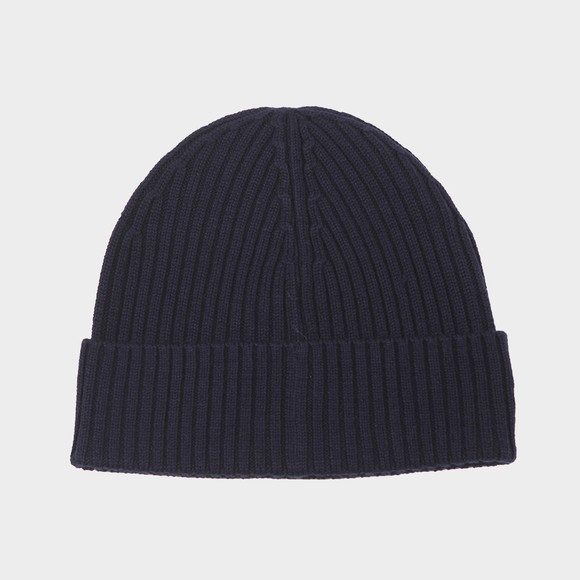 Lacoste Mens Blue Ribbed Beanie main image