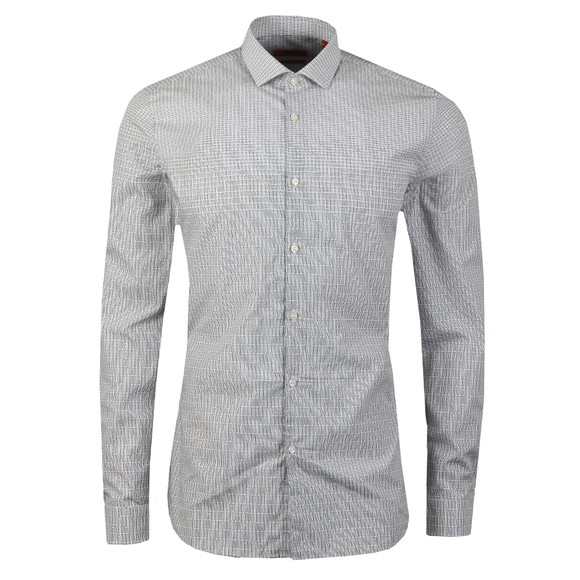 HUGO Mens White Erondo Allover Pattern Shirt