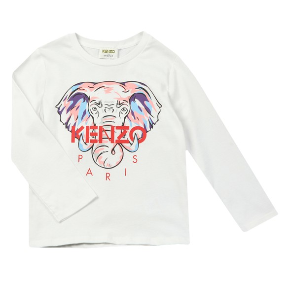 Kenzo Kids Girls White Karina Long Sleeve T-Shirt