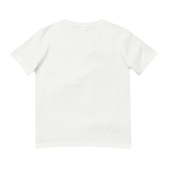 BOSS Boys White Small Curved Logo T-Shirt