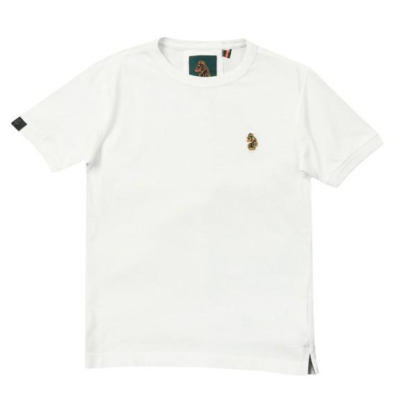 Luke Sport Boys White Classic Small Logo T-Shirt