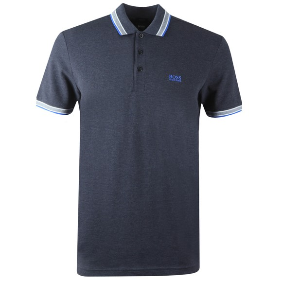 BOSS Mens Blue Athleisure Paddy Polo Shirt