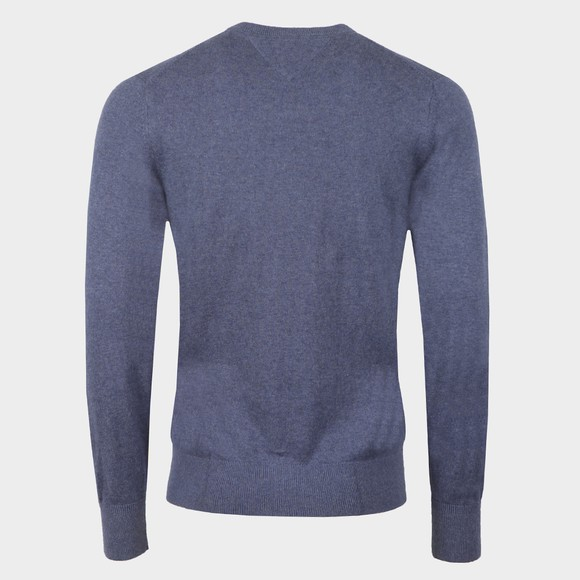 Tommy Hilfiger Mens Blue Pima Cotton Cashmere Jumper main image