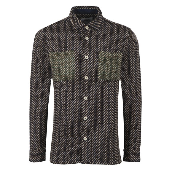 Wax London Mens Blue Whiting Overshirt