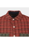 Wax London Mens Red Whiting Overshirt
