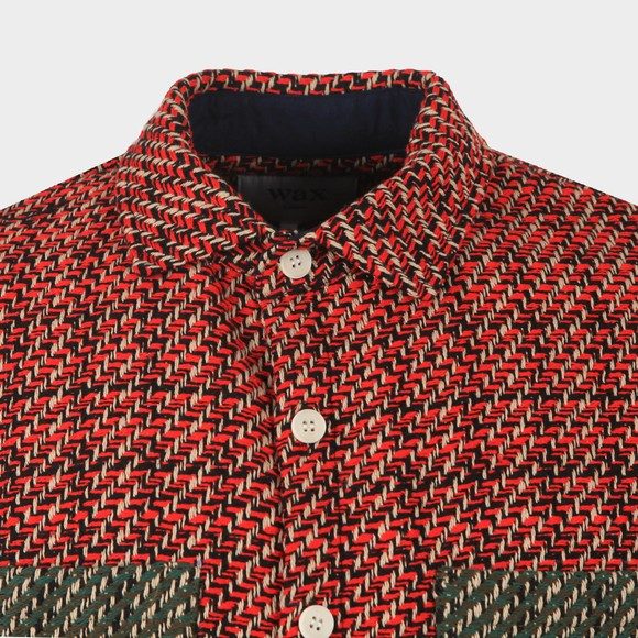 Wax London Mens Red Whiting Overshirt