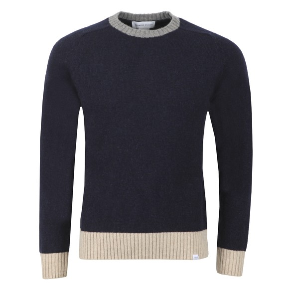 Edmmond Studios Mens Blue Contrast Sweater