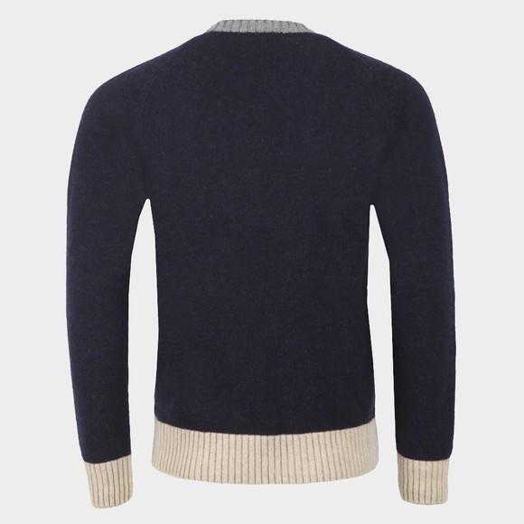Edmmond Studios Mens Blue Contrast Sweater main image