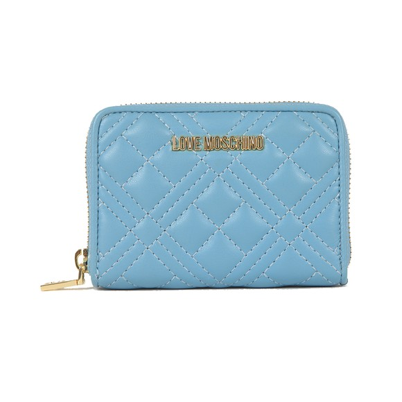 Love Moschino Womens Blue Small Cross Quilted Purse