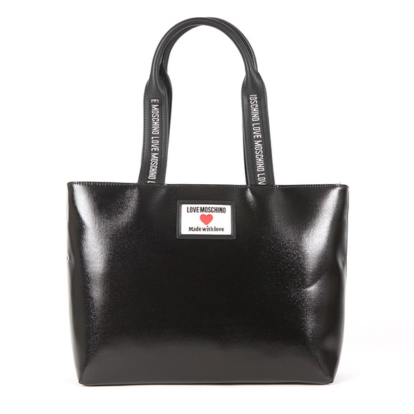 Love Moschino Womens Black Made With Love Tote