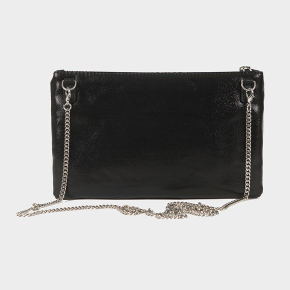 Love Moschino Womens Black Made With Love Clutch Bag