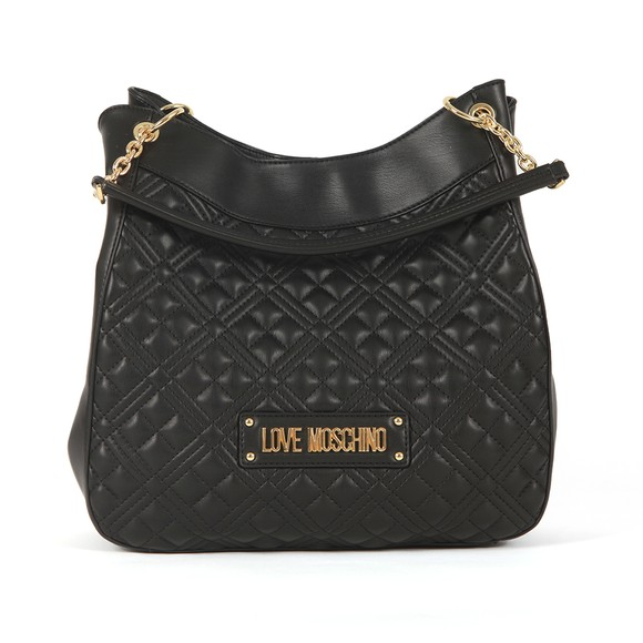 Love Moschino Womens Black Cross Quilted Large Tote