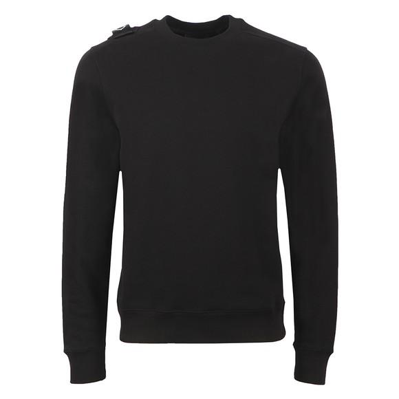 Ma.Strum Mens Black Core Crew Sweatshirt