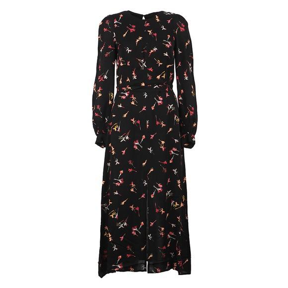 French Connection Womens Black Chiara Drape Maxi Dress