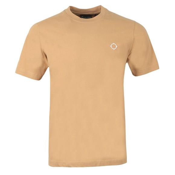 Ma.Strum Mens Beige Core Icon T Shirt