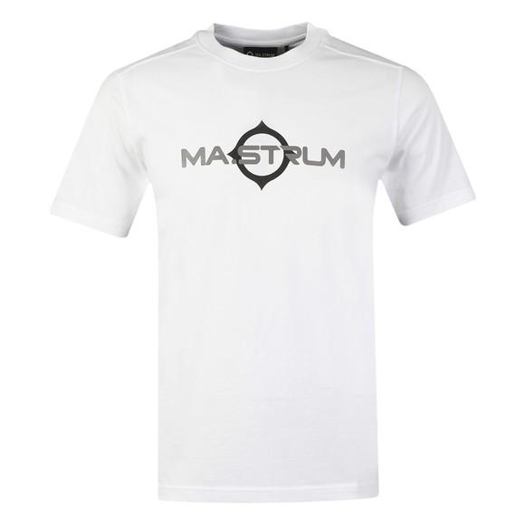 Ma.Strum Mens White Logo Print T Shirt