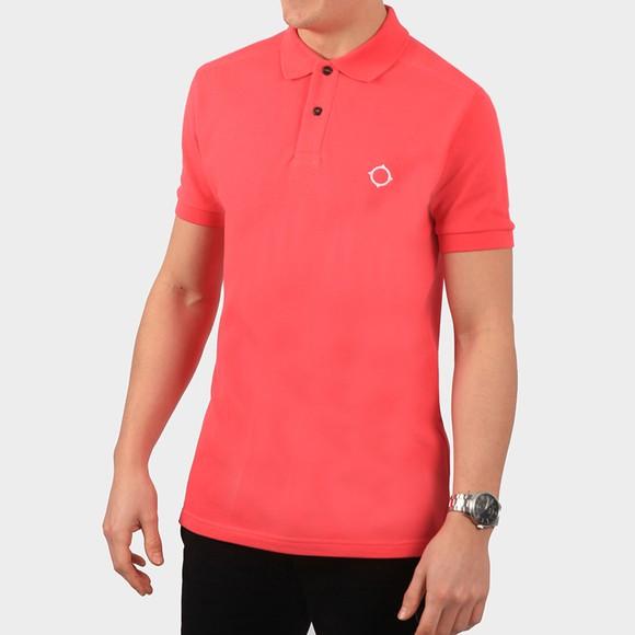 Ma.Strum Mens Pink Core Pique Polo Shirt