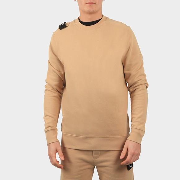 Ma.Strum Mens Beige Core Crew Sweatshirt