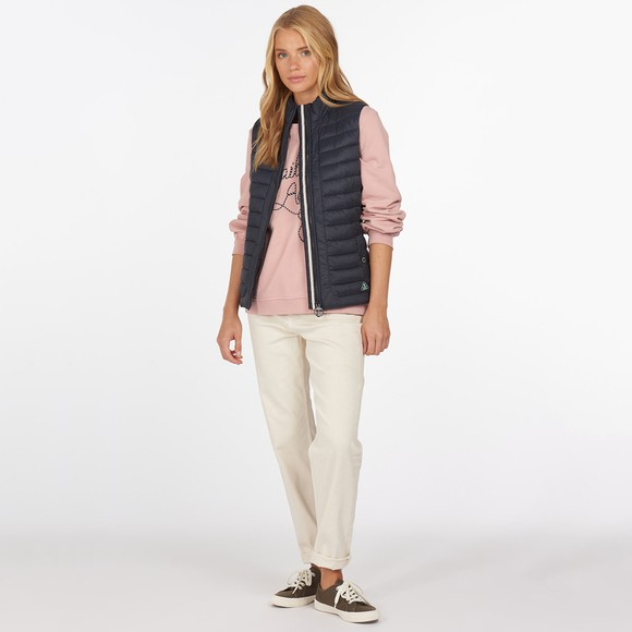 Barbour Lifestyle Womens Pink Padstow Overlayer Sweatshirt main image
