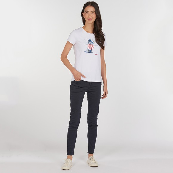Barbour Lifestyle Womens White Southport T-Shirt main image