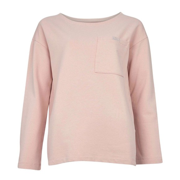 Barbour International Womens Pink Pace Overlayer Sweatshirt