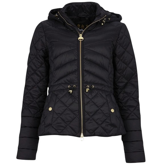 Barbour International Womens Black Drifting Quilt