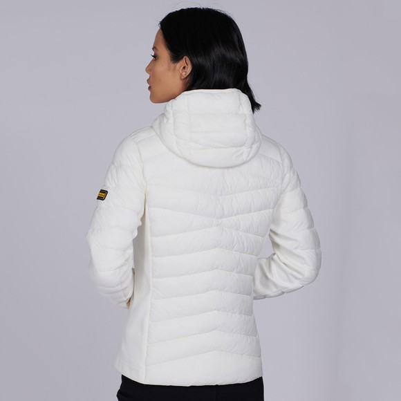Barbour International Womens White Grid Quilt main image