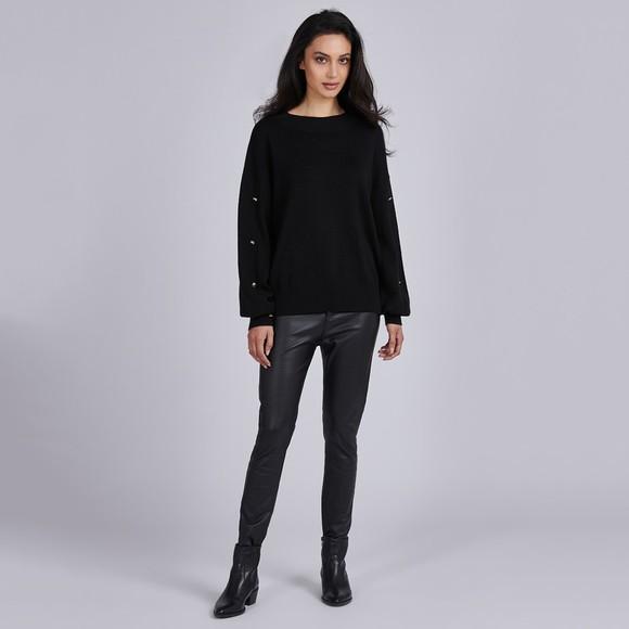 Barbour International Womens Black Drifting Knit Jumper main image