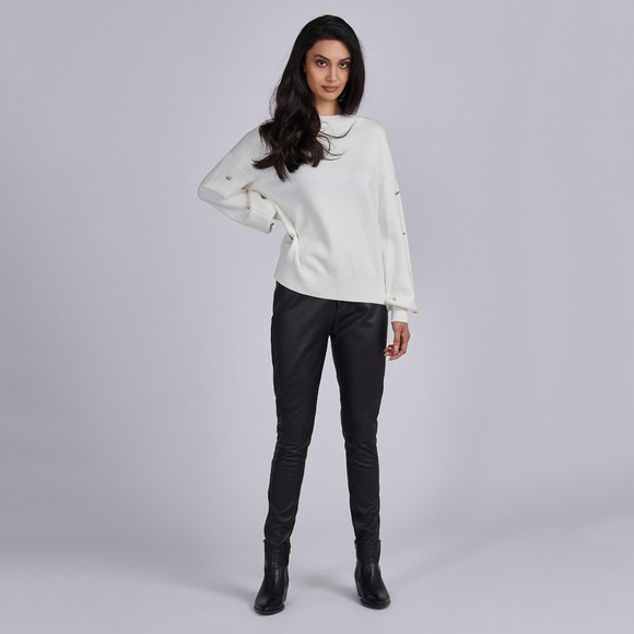 Barbour International Womens Off-White Drifting Knit Jumper main image