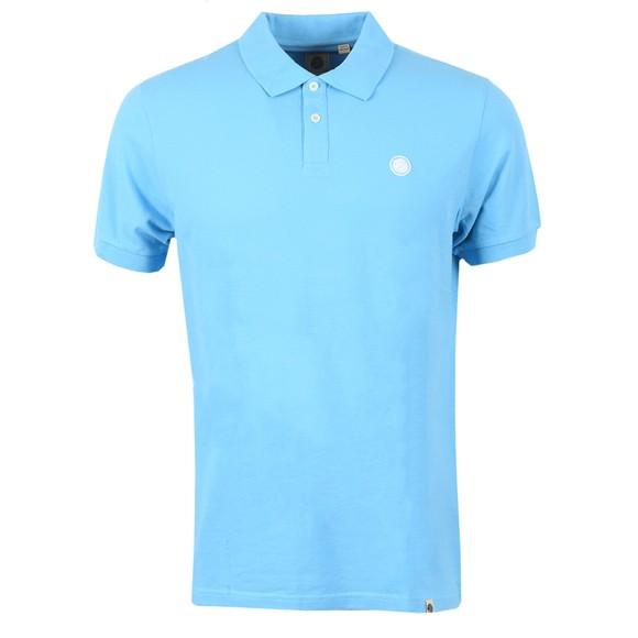 Pretty Green Mens Blue Pique Polo Shirt