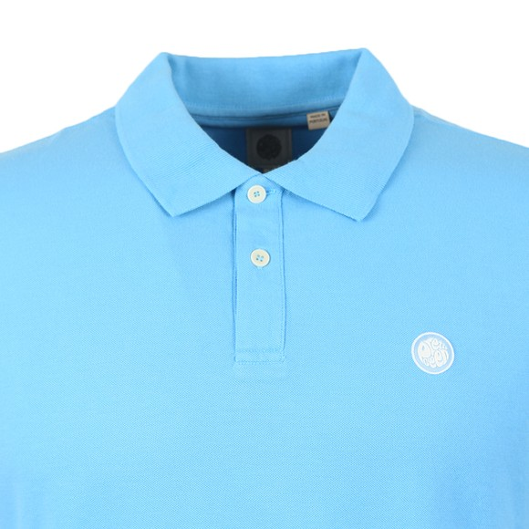 Pretty Green Mens Blue Pique Polo Shirt