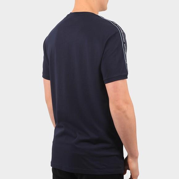 Emporio Armani Mens Blue Tape Logo Stretch T Shirt main image