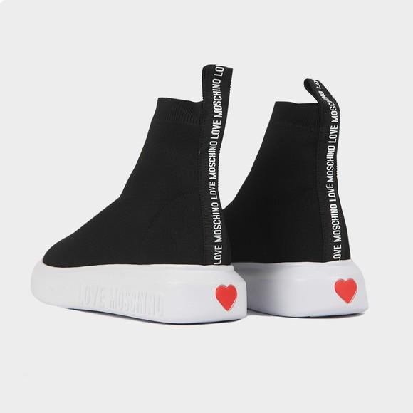 Love Moschino Womens Black Sock Runner main image