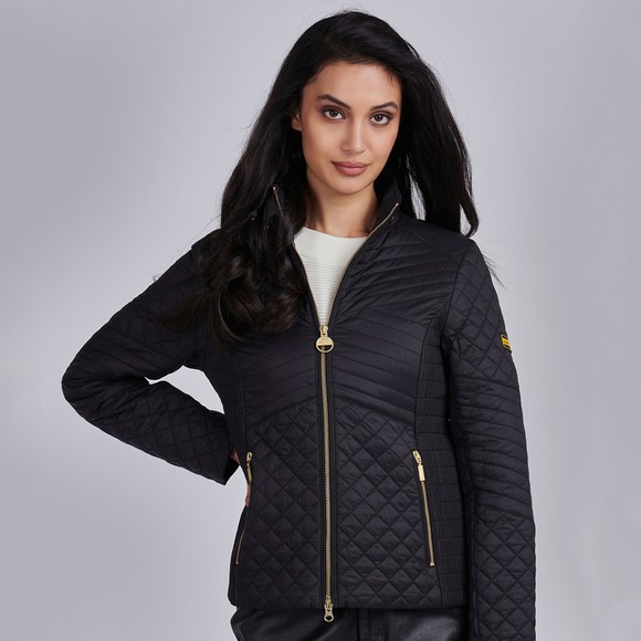 Barbour International Womens Black Formation Quilt main image