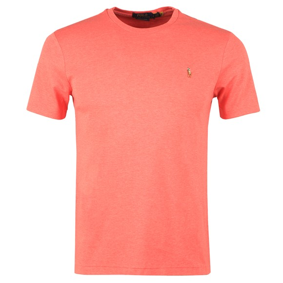 Polo Ralph Lauren Mens Highland Rose Heather Custom Slim Fit Pima Cotton T Shirt