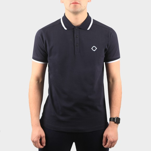 Ma.Strum Mens Ink Navy Jersey Polo Shirt