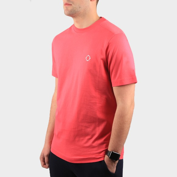 Ma.Strum Mens Pink Core Icon T Shirt