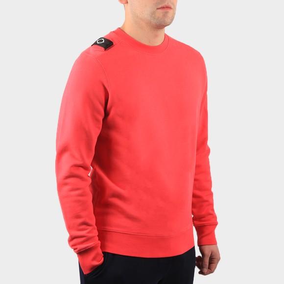 Ma.Strum Mens Pink Core Crew Sweatshirt
