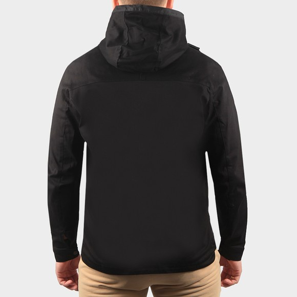 Ma.Strum Mens Black Hooded Panel Overshirt main image