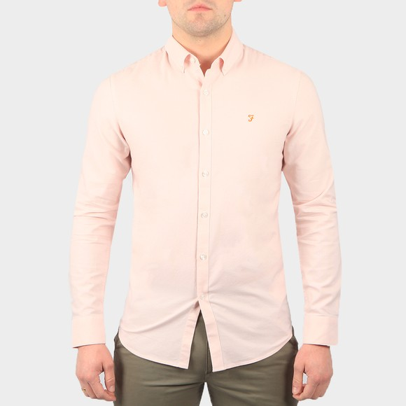 Farah Mens Pink Brewer Shirt