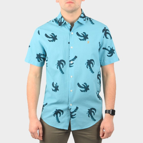 Farah Mens Green Elena Printed Shirt main image