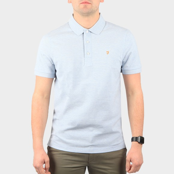 Farah Mens Blue Nickle Blanes Polo Shirt